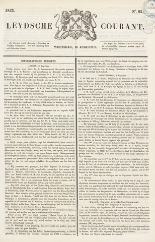 Leydse Courant 1853-08-10