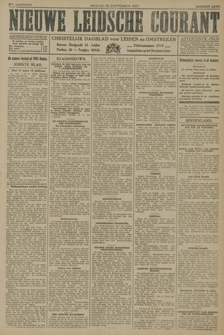 Nieuwe Leidsche Courant 1927-09-30
