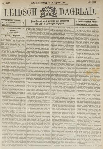 Leidsch Dagblad 1892-08-04
