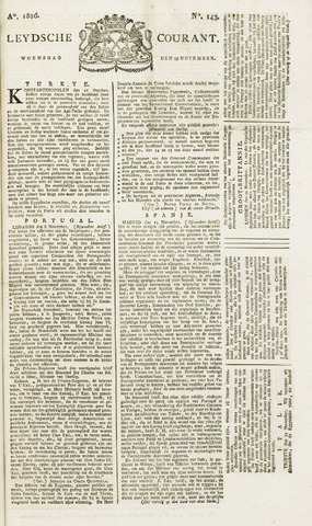 Leydse Courant 1826-11-29