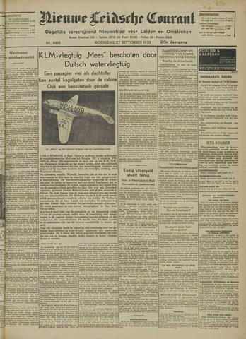 Nieuwe Leidsche Courant 1939-09-27