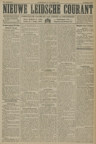 Nieuwe Leidsche Courant 1927-10-27