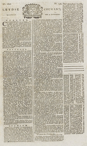 Leydse Courant 1820-11-27