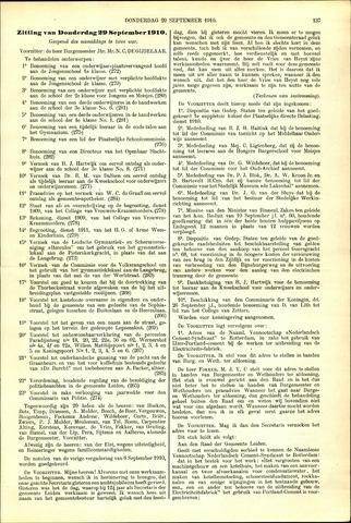 Handelingen van de Raad 1910-09-29