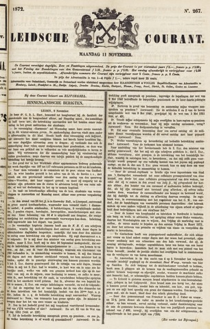 Leydse Courant 1872-11-11