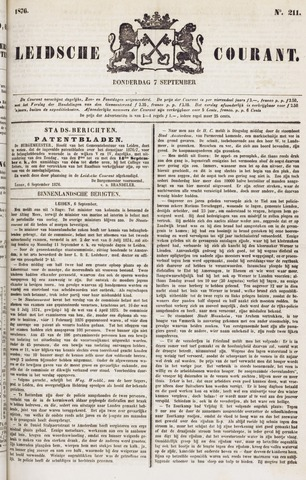 Leydse Courant 1876-09-07