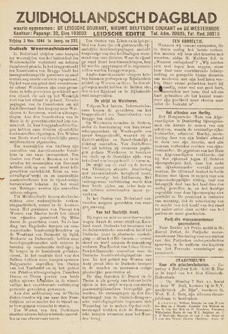 Zuidhollandsch Dagblad 1944-11-03