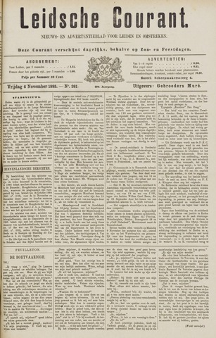 Leydse Courant 1885-11-06