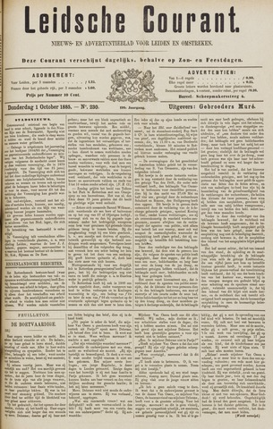 Leydse Courant 1885-10-01