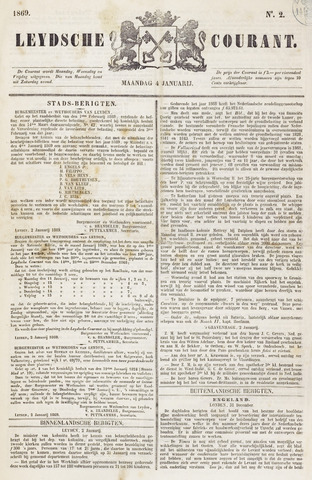 Leydse Courant 1869-01-04