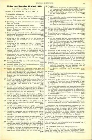 Handelingen van de Raad 1923-06-25