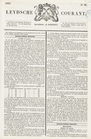 Leydse Courant 1855-08-13