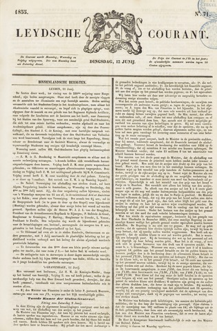 Leydse Courant 1855-06-13