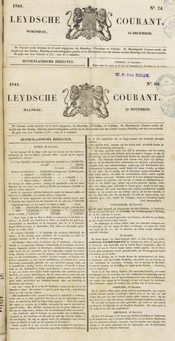 Leydse Courant 1844-11-25