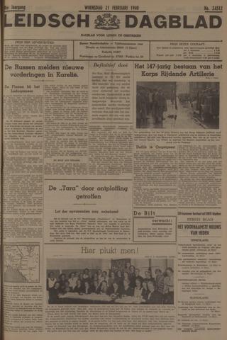 Leidsch Dagblad 1940-02-21