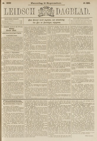 Leidsch Dagblad 1893-09-09