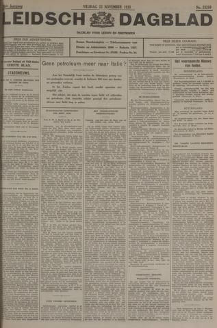 Leidsch Dagblad 1935-11-22