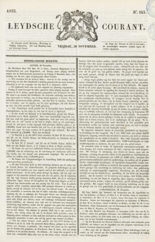 Leydse Courant 1855-11-30