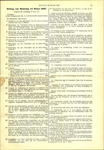 Handelingen van de Raad 1927-03-14