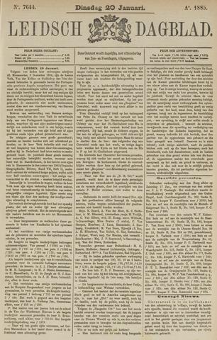 Leidsch Dagblad 1885-01-20