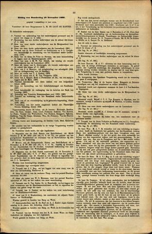 Handelingen van de Raad 1886-11-18