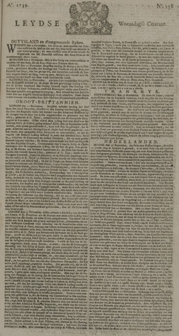 Leydse Courant 1739-11-18