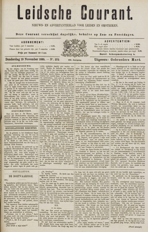 Leydse Courant 1885-11-19