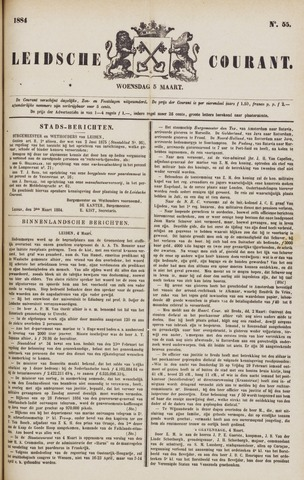Leydse Courant 1884-03-05