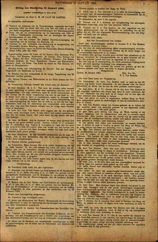 Handelingen van de Raad 1894-01-11