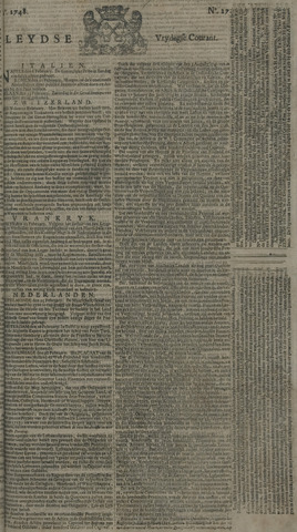 Leydse Courant 1748-03-01