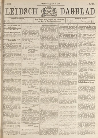 Leidsch Dagblad 1915-04-10
