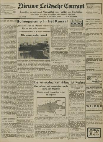 Nieuwe Leidsche Courant 1939-10-09