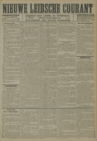 Nieuwe Leidsche Courant 1923-09-26