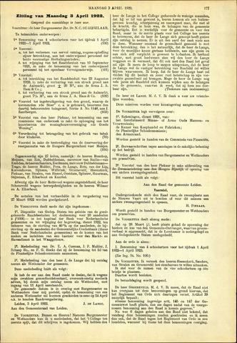 Handelingen van de Raad 1922-04-03