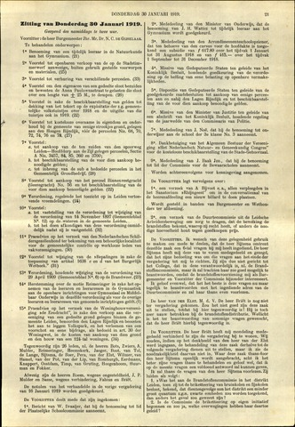 Handelingen van de Raad 1919-01-30