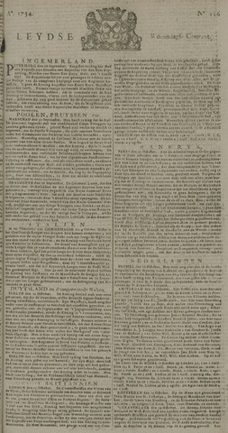 Leydse Courant 1734-10-20