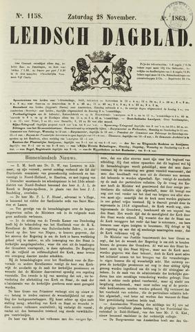 Leidsch Dagblad 1863-11-28