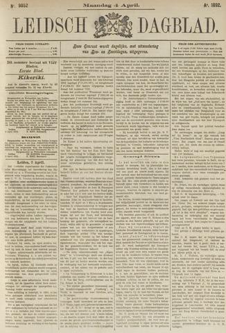 Leidsch Dagblad 1892-04-04