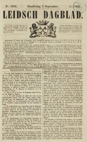 Leidsch Dagblad 1863-09-03
