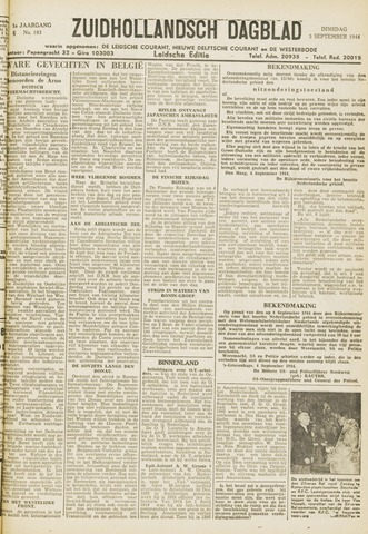 Zuidhollandsch Dagblad 1944-09-05