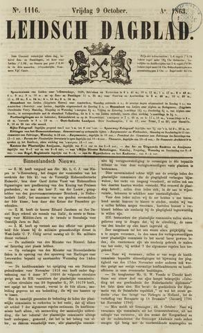 Leidsch Dagblad 1863-10-09