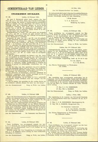 Handelingen van de Raad 1925-02-12