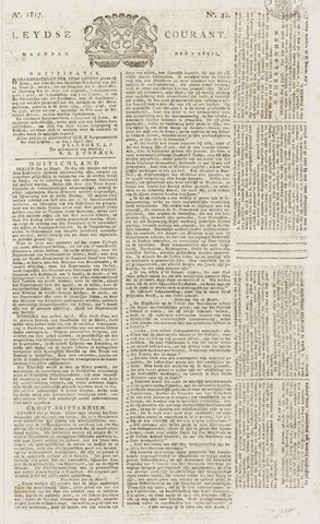 Leydse Courant 1817-04-07