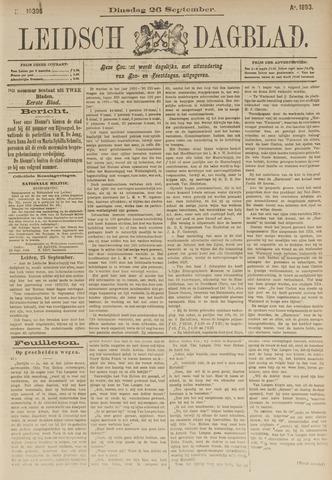 Leidsch Dagblad 1893-09-26