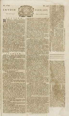 Leydse Courant 1819-09-03