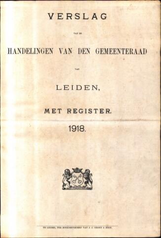 Handelingen van de Raad 1918-01-01