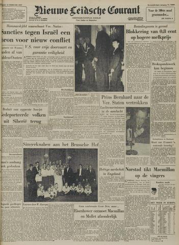 Nieuwe Leidsche Courant 1957-02-12