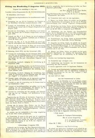 Handelingen van de Raad 1915-08-05