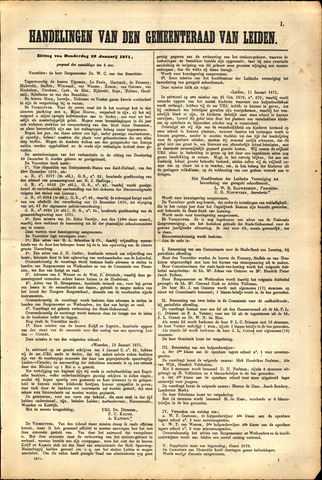 Handelingen van de Raad 1871-01-19