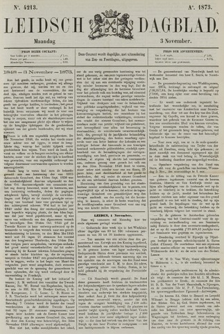Leidsch Dagblad 1873-11-03